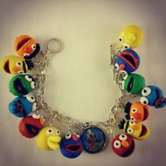 Sesame street charm bracelet by Special gifts online. Handmade bracelet, unique and perfect gift idea.