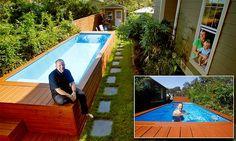 Seis ideias inspiradoras para construir sua piscina | Patios, Deck ...