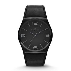 At 42 mm, the Havene Leather Watch is boldly proportioned. Sporting a black dial with large numerals marking the 12, 3, 6 and 9 o'clock positions, it makes a confident statement. A supple leather strap in black or brown leather finishes off this eye-catching sports watch for men.