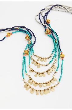 market beads cascading necklace