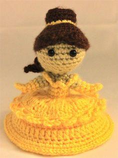 PATTERN Belle Beauty and the Beast Disney Princess Crochet Doll Amigurumi. $4.95, via Etsy.