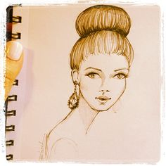 Random sketch to start a creative day. Brooke Hagel