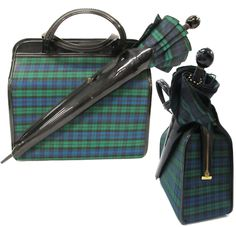 Vintage plaid school bag and matching umbrella. #shopgoodwill #goodwill #auction