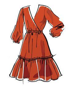Dress Design Drawing, Dress Design Sketches, Fashion Design Sketchbook, Fashion Illustration Sketches, Fashion Design Drawings, Fashion Sketches, Clothing Sketches, Medical Illustration, Art Sketchbook