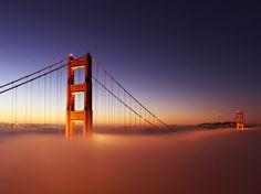 Bridge above clouds