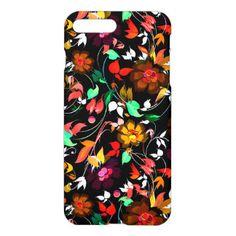 Cute vintage colorful floral texture iPhone 7 plus case