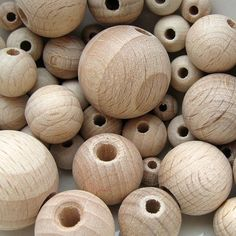 Wooden Bead Mix Sample Pack Raw Natural Unfinished