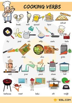 Learn Cooking Verbs in English - ESL Buzz
