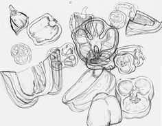 Bell Pepper Drawing images