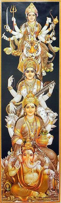 Saraswati Devi, Durga Puja, Shiva Shakti, Lord Ganesha Paintings, Krishna Painting, Indian Goddess, Goddess Lakshmi, Ganesh Photo, Rudra Shiva