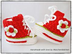 Babyschuhe  10 cm von Maschenlädchen auf DaWanda.com