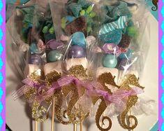 Juego de brochetas - bajo el mar - Little Mermaid Candy Buffet brochetas de Caballito de mar de 12