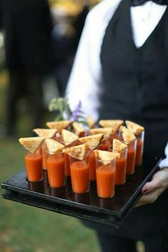 Mini tomato soup