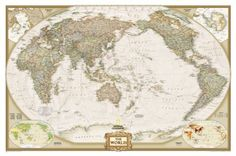 World Executive, Pacific Centered Wall Map (tubed) (Reference - World) by National Geographic Maps. Save 25 Off!. $12.74. Series - Reference - World. Publication: February 1, 2007. Publisher: Natl Geographic Society Maps (February 1, 2007)
