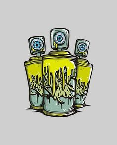I like how the eye is the spray part its saying the art is gonna be seen Graffiti Artwork, Graffiti Wallpaper, Graffiti Drawing, Graffiti Alphabet, Street Art Graffiti, Stencil Graffiti, Graffiti Cartoons, Graffiti Characters, Graffiti Designs