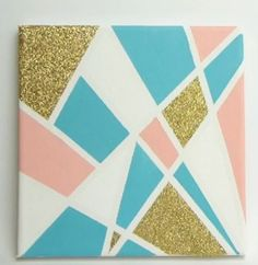 DIY Canvas Art with glitter