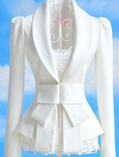 White Bow Blazer
