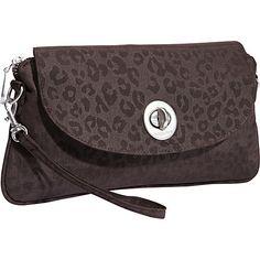 baggallini Monaco Clutch Cheetah ES - baggallini Fabric Handbags