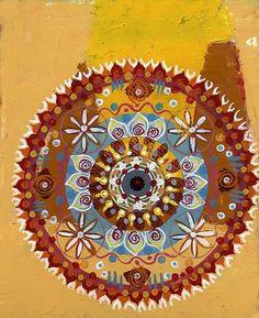 mandala,2004, acrylic on paper