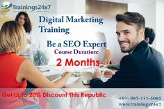 DigitalMarketingCertification Training Program. Enroll Now with Trainings24x7 Course Offer you : SEO, SMM, SEM, PPC, Webmaster, Analytics, SearchAds, DisplayAds.  Get Discount Upto 20% Till 26th Jan