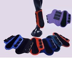 Splint Boots w/Black Patches by Intrepid International. $16.18. Splint Boots Neoprene Splint Boots with Black padded suede overlay and three reverse grip hook and loop straps. Offers good protection to the inside of the horse''s leg. Easy to use, easy to care for. Most 15 to 16 hand horses with average bone wear medium on front, large on back. If your horse wears large on the front than use the hinds for the back. Sold in Pairs Colors: Red, Royal Blue, Green, ...
