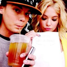 Caleb and Hannah - Ashley Benson and Tyler Blackburn - My new favorite tv couple.