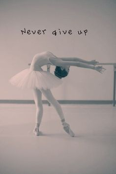 Dream big, and never give up