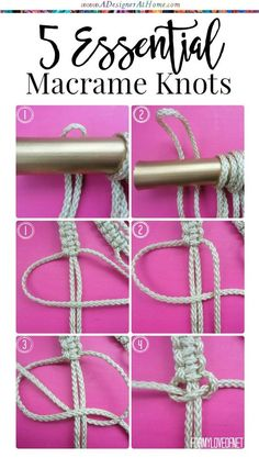 5 essential beginners macrame knots
