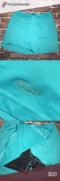 BOLLE~Athletic Tennis Running Skirt Skorts~S Great condition..blue-green color. Bolle Skirts