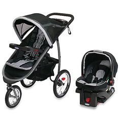 This crossover stroller combines the features of a traditional stroller with the performance of an all-terrain jogger. It includes the SnugRide® Click Connect 35 infant car seat that you can quickly attach to the stroller for parents on the go.