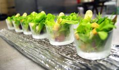 Petit Salad with Turnip, Butternut Squash, Pipette of Red Wine Vinaigrette Gourmet Foods, Gourmet Recipes, Push Up Pops, Red Wine Vinaigrette, Skewer Recipes, Like Fine Wine, Sunday Suppers, Catering Ideas, Lamb Chops