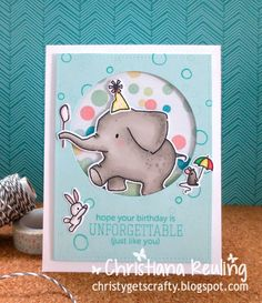 Ella & Friends: Mama elephant, critter sketch, Christy Gets Crafty:ay