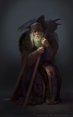 Wotan by Dark Fantasy, Fantasy Rpg, Medieval Fantasy, Fantasy Artwork, Male Character, Character Portraits, Fantasy Character Design, Dungeons And Dragons Characters, Dnd Characters
