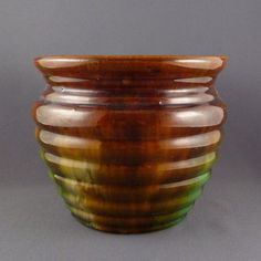 McCoy Pottery blended glaze 'beehive' plant pot by PrairieDecArts