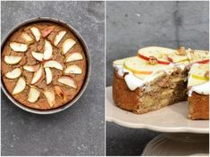 Apple and chickpea cake w. lemony cream cheese frosting