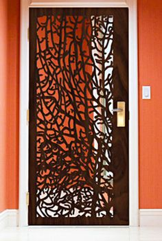 Decorative Organic Wooden Door from Perting - I'm re-imagining this in my head as a screen door, or possibly done as stained glass