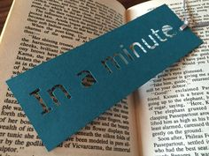 In a minute paper bookmark. Bookmarks for books Book lover gift Bookmark funny Reading gifts Book club gift Small gift idea Thank you token Bookmarks For Books, Creative Bookmarks, Paper Bookmarks, Cross Stitch Bookmarks, Handmade Bookmarks, Corner Bookmarks, Bookmarks Quotes, Gifts For Librarians, Gifts For Bookworms