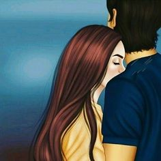 Cute Love Images, Love Couple Images, Cute Couple Art, Cute Couples, Love Cartoon Couple, Cute Love Cartoons, Anime Love Couple, Girly Drawings, Love Drawings