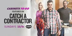 Cabinets To Go is featured on Catch A Contractor on Spike TV! Enter for a chance to win your own FREE set of #kitchencabinets at cabinetstogo.com!
