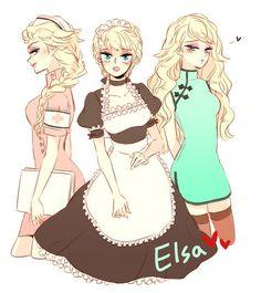 If Jelsa was an anime. Frozen Fan Art, Frozen And Tangled, Elsa Frozen, Elsa Hot, Frozen Anime, Estilo Disney, Arte Disney, Disney Fan Art, Jelsa
