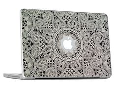 Lace Macbook Skin / Decal / Cover KMB019 by Rockyart on Etsy, $15.99