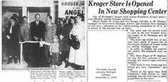 https://flic.kr/p/Af1fQA | Kroger store is opened in new shopping center-Frandor-1954-11-02-Lansing, MI