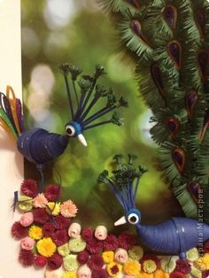3D quilled exotic birds
