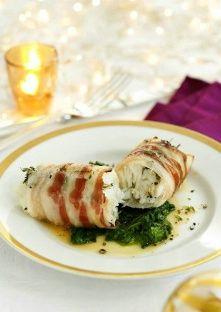 Menu de Noël - Loup de mer enrobé de lard (plat de noël) - NotreFamille.com