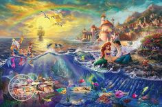 Disney Art & Collectibles - Thomas Kinkade Studios portfolio of Disney artwork captures the beauty of Disney fans' favorite movies and theme parks. Each Thomas Kinkade Studios Disney movie Disney Magic, Disney Pixar, Walt Disney, Disney Animation, Disney Amor, Disney E Dreamworks, Disney Love, Disney Characters, Disney Princesses