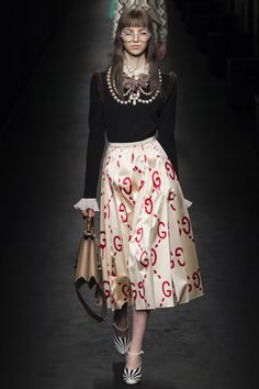 "Gucci Fall 2016 Ready-to-Wear Fashion Show........ when vintage ""awkward"" style becomes cool again........."