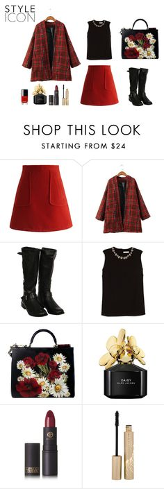 """""""cherry style"""" by explorer-14442013394 on Polyvore featuring мода, Chicwish, Pilot, Erdem, Dolce&Gabbana, Marc Jacobs, Lipstick Queen, Stila, Chanel и StreetStyle"""