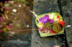 Canang Sari. Balinese offering basket