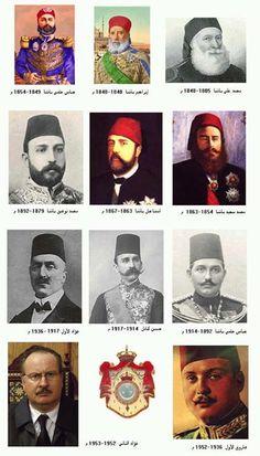 صور لحكام مصر من الاسرة العلوية