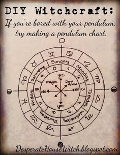 If all goes well, I'm going to be posting an easy Pagan project once a week (emphasis on easy because truth be told, I'm a little lazy. Magick Book, Magick Spells, Wiccan Witch, Wiccan Books, Healing Spells, Pendulum Witchcraft, Witchcraft Symbols, Pendulum Board, Tarot